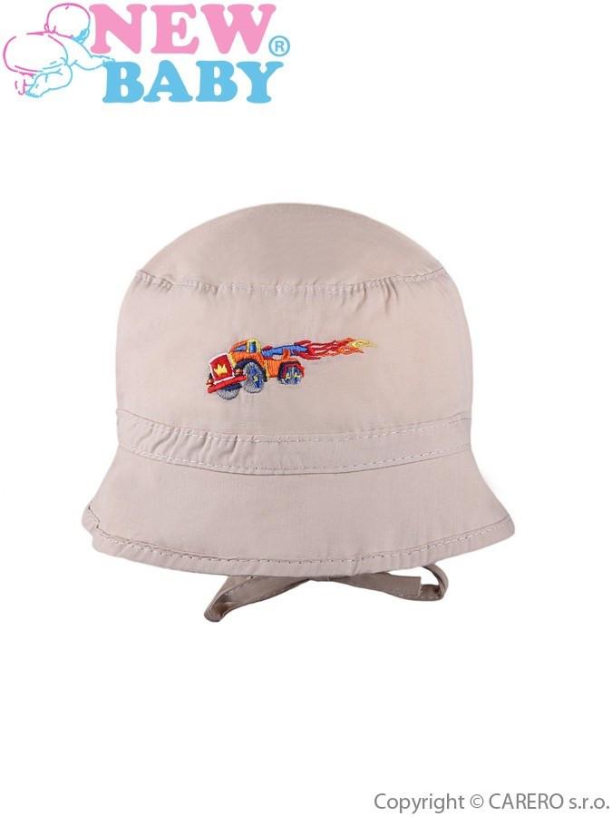 Letní dětský klobouček New Baby Truck béžový  75aa8d548b
