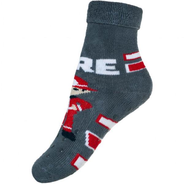 Kojenecké froté ponožky New Baby s ABS šedé s hasičem  42b9c5698e